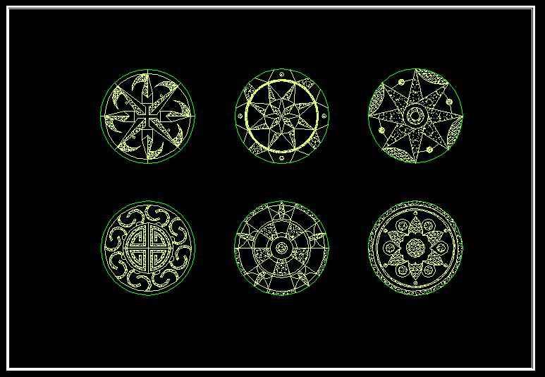 Mosaic Design Drawing】★ Free Autocad Blocks Amp Drawings