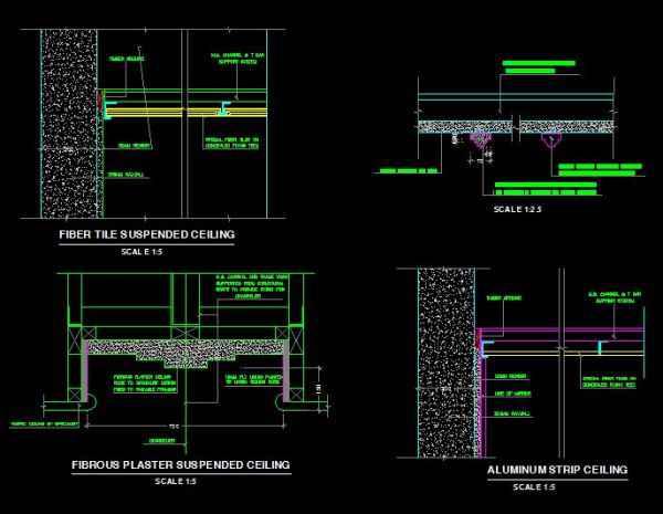 Plan Section Elevation Drawings : Flooring details】★ free autocad blocks drawings