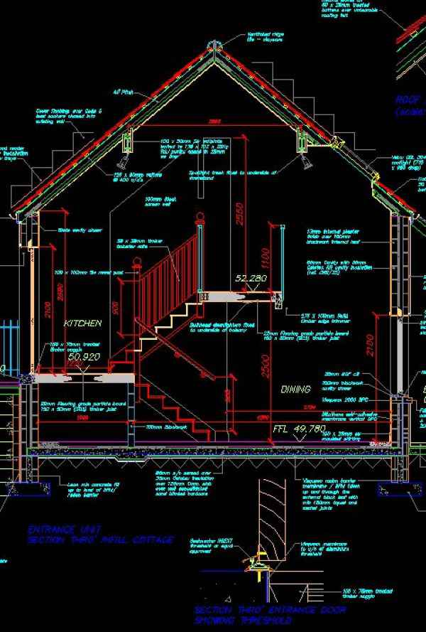 House Section Free Cad Blocks Drawings Download Center