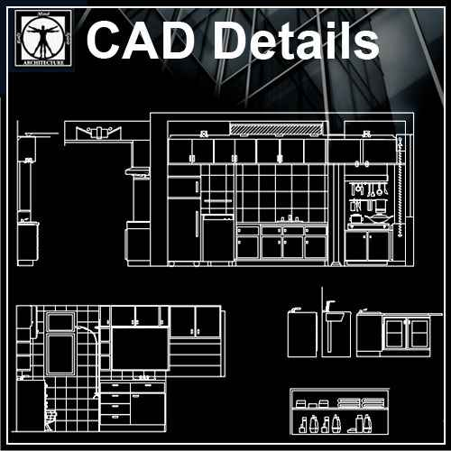 Elevation Plan In Autocad : Kitchen elevation free cad blocks drawings download center