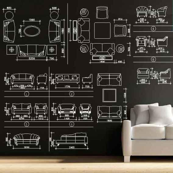 Sofa cad blocks set u2013 free autocad blocks & drawings download center