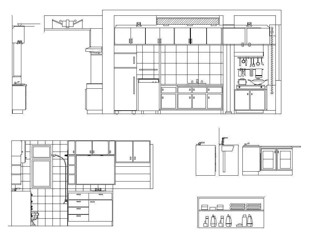 kitchen elevation | free cad blocks & drawings download center