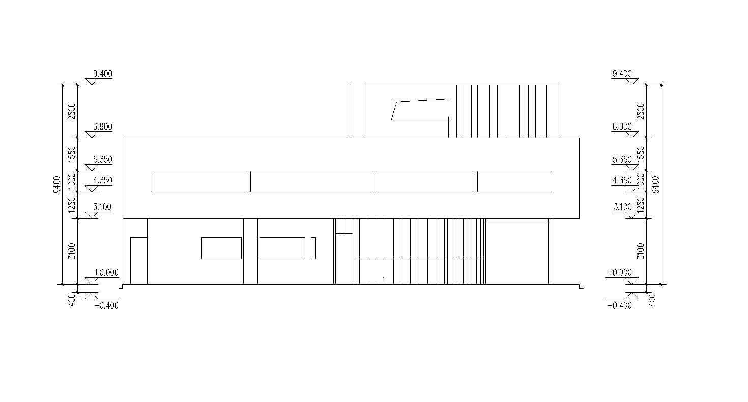 Villa savoye cad drawings le corbusier free cad blocks for Online cad drawing