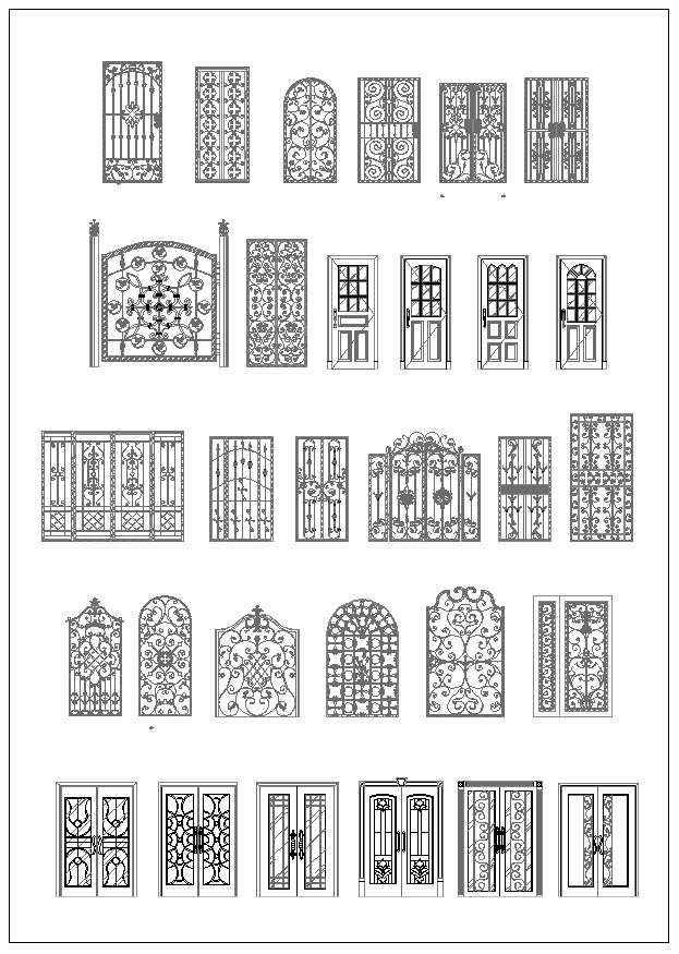 Ornamental Door Amp Window Bundle Free Cad Blocks