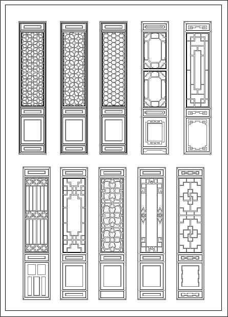 Chinese Window Lattice Drawing Download Autocad Blocks