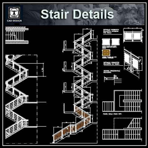 Free RC Stair Details – Free Autocad Blocks & Drawings