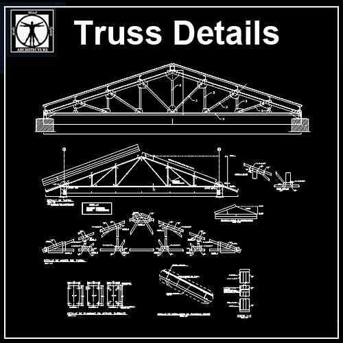 Truss Structure Details 7 Free Autocad Blocks Amp Drawings