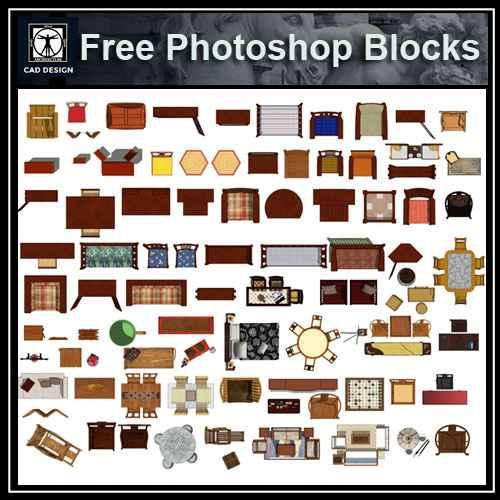 Free Photoshop Psd Chinese Furniture Free Autocad Blocks