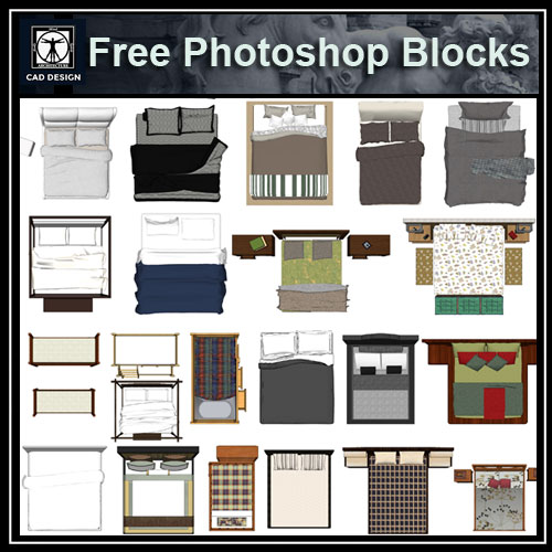 Free Photoshop Psd Bed Blocks 2 Free Autocad Blocks Drawings