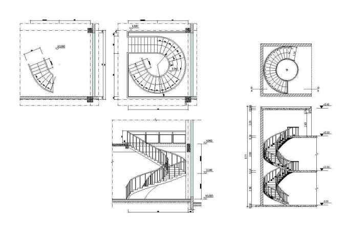 Free Spiral Stair Details – Free Autocad Blocks & Drawings