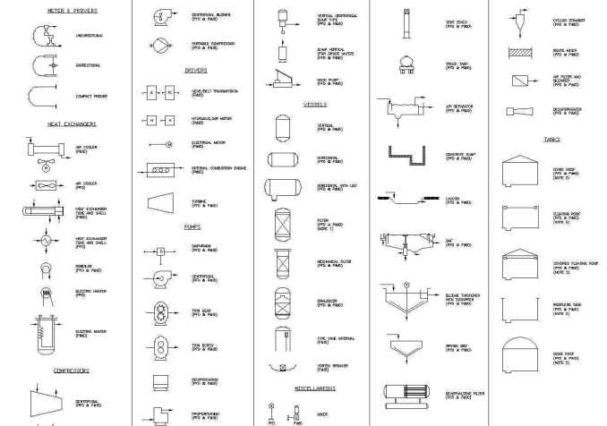 free electric and plumbing symbols