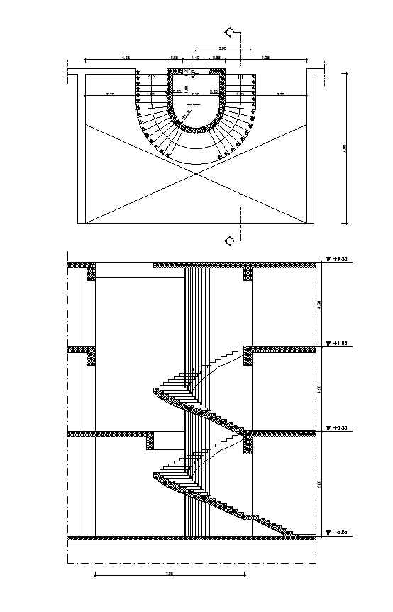 Free Spiral Stair Details Free Cad Blocks Drawings