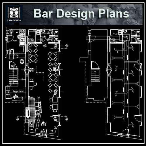 Pub And Bar Design 1 Free Autocad Blocks Amp Drawings