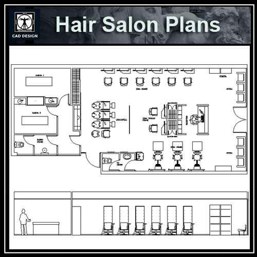 Hair Salon Blocks Amp Plans Free Cad Blocks Amp Drawings