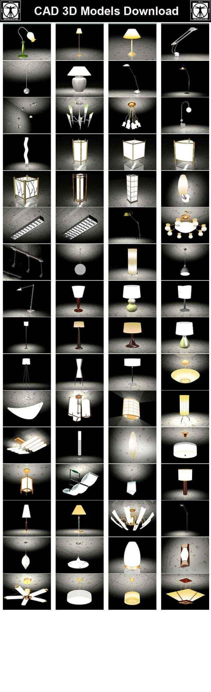 Lamp 3D Cad Models