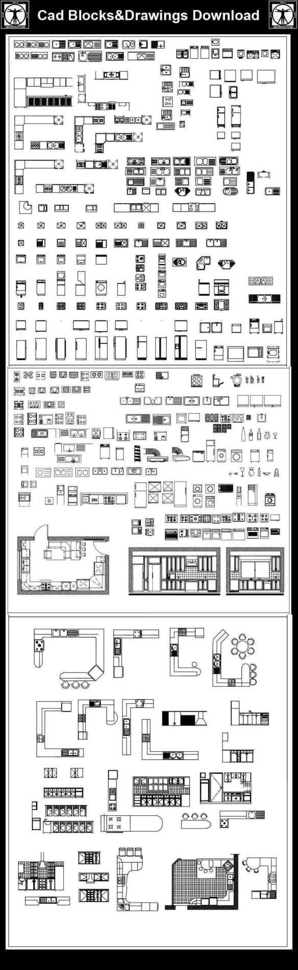 All Kitchen Blocks Bundle | Download CAD Blocks,Drawings,Details,3D on swf files, stl files, autocad icon files, eps files, 3ds files, zip files, obj files, collada files, jpeg files, tiff files,