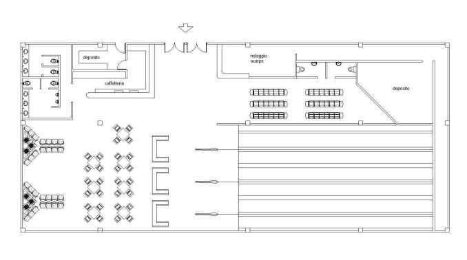 Free bowling plan free cad blocks drawings download center Bowling alley floor plans