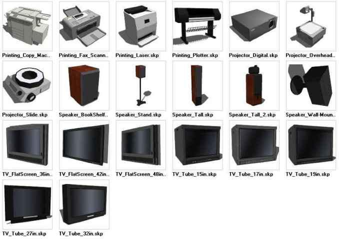 Sketchup electronics 3d models download free cad blocks for Modelli cad 3d free