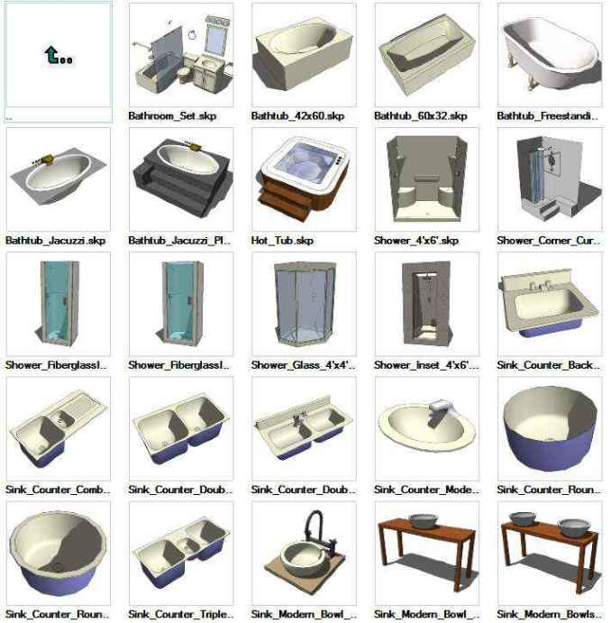 sketchup plumbing 3d models download free cad blocks