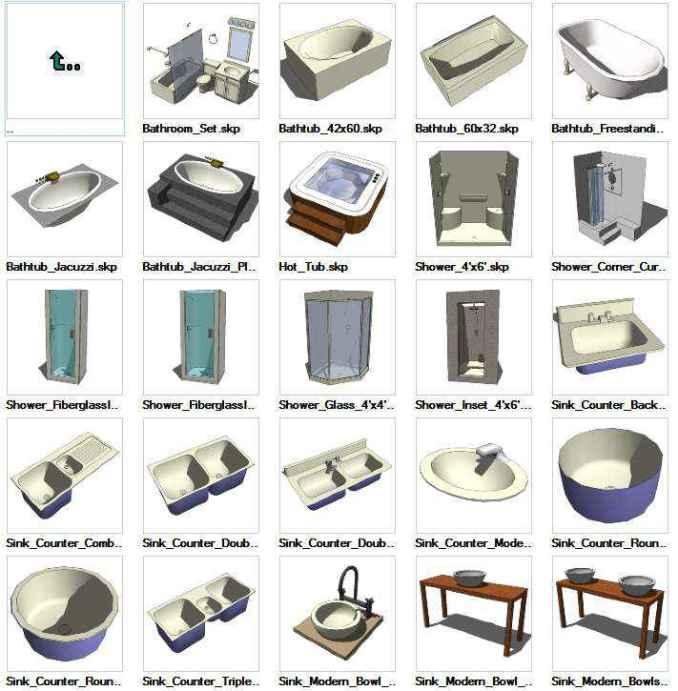 Sketchup plumbing 3d models download free cad blocks for 3d furniture design software free