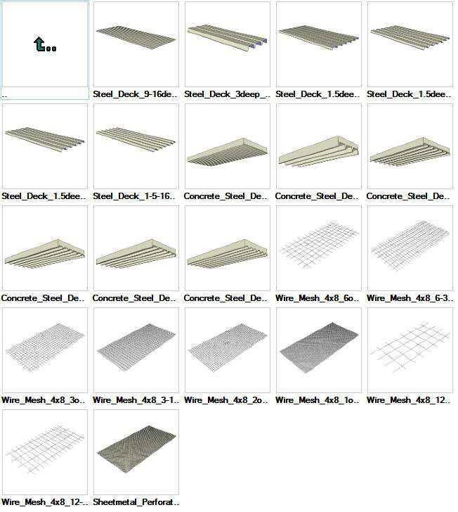 Sketchup steel deck 3d models download free cad blocks for Sketchup deck design
