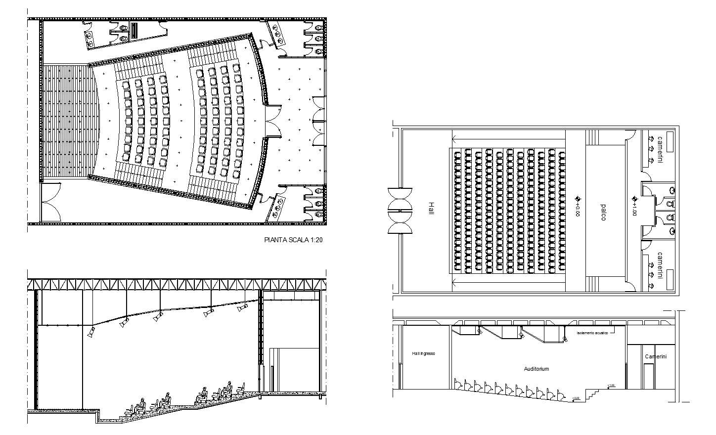 Auditorium Section 3 Free Cad Blocks amp Drawings Download
