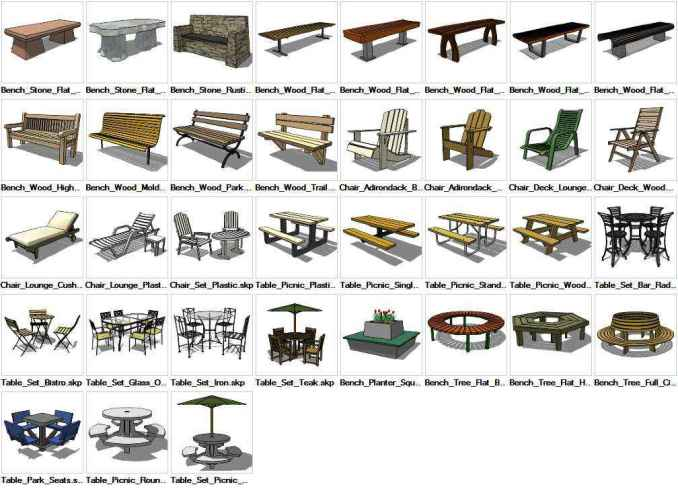 Sketchup Furniture Exterior 3d Models Download Free Cad