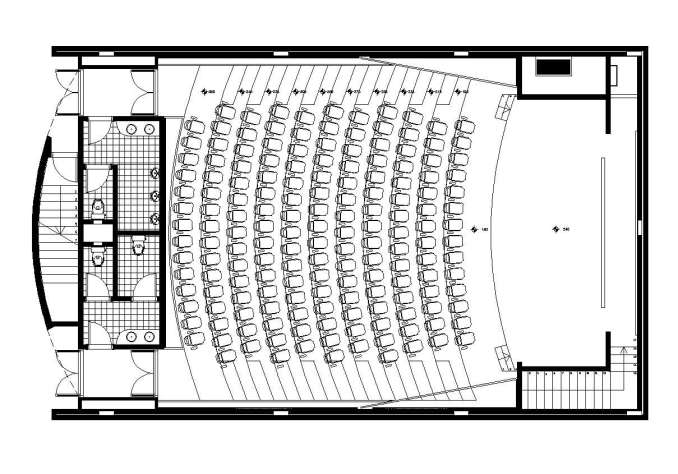 Free Auditorium Plan Cad Blocks amp Drawings Download