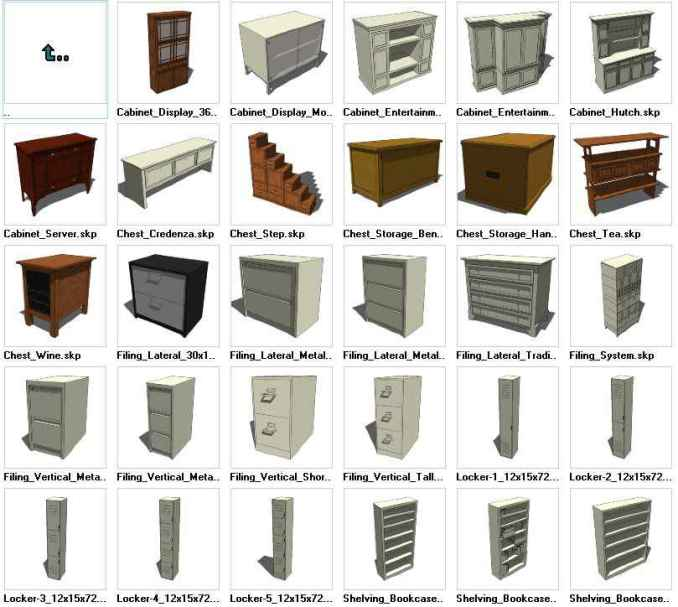 Sketchup Storage 3d Models Download Free Cad Blocks Drawings Download Center