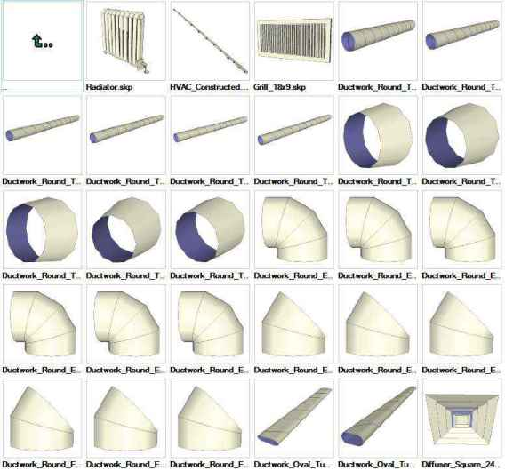 Sketchup HVAC 3D models download