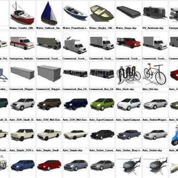 ☆Sketchup 3D models🔥💎 – Free Autocad Blocks & Drawings
