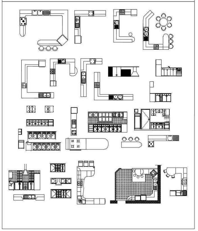 Autocad For Kitchen Design: Download CAD Blocks,Drawings