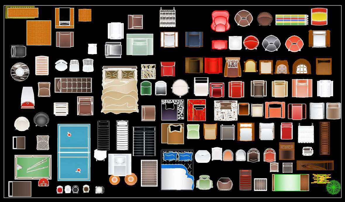 Free Cad Color Blocks Free Autocad Blocks Drawings Download Center