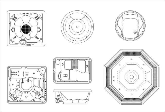 Bathroom Blocks Jacuzzi Download Cad Blocks Drawings Details 3d Psd Blocks