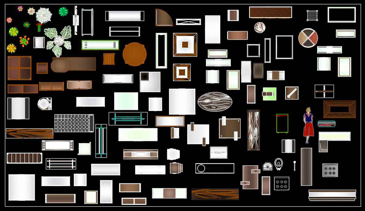 free download autocad blocks interior design