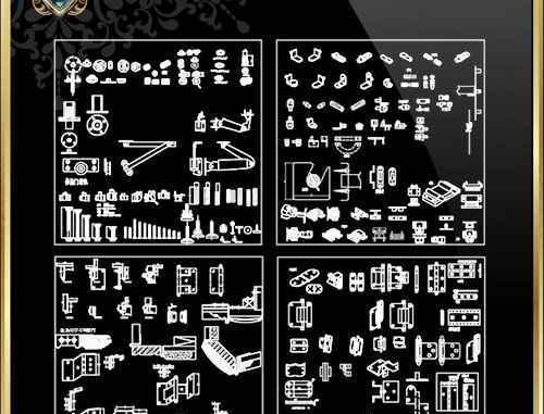 Over 2000 Hardware Accessories CAD blocks – Free Autocad
