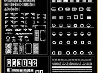 Autocad dwg free cad blocks drawings download center part 2 over 500 chinese decorative elements framepatternborderdoorwindowsrooflatticecarved wood maxwellsz