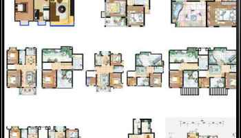 15 Types Of Interior Design Layouts Photoshop Psd Template V 1