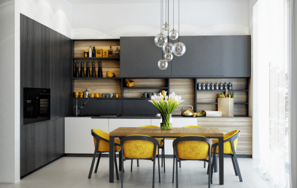 Open Kitchen Shelving 40 Classy Examples That Show How The Pros