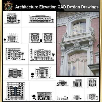 ★【Over 170+ Architecture Elevation,Building elevation CAD Design,Details,Elevation Collection】Facade design, building facade, home facade, building facade@Autocad Blocks,Drawings,CAD Details,Elevation