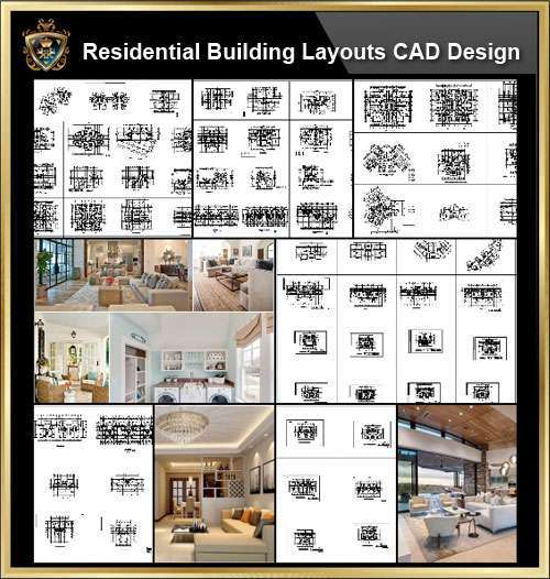 ★【Over 130+ Architecture Layout,Building Plan Design CAD Design,Details  Collection】Residential Building Plan@Autocad Blocks,Drawings,CAD
