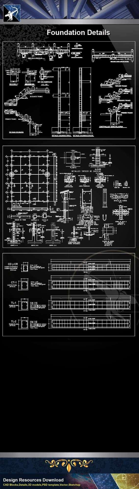 【Architecture CAD Details Collections】Foundation CAD Details