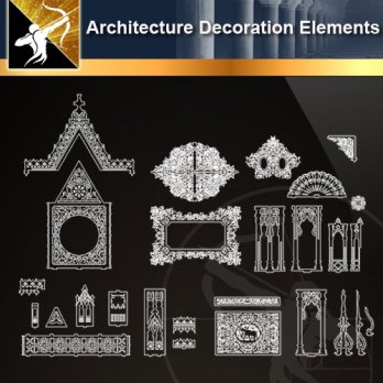 Free Classical Decoration Elements – Free Autocad Blocks & Drawings