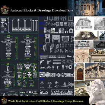 ★【Neoclassical Style Decor CAD Design Elements V.1】Neoclassical interior, Home decor,Traditional home decorating,Decoration