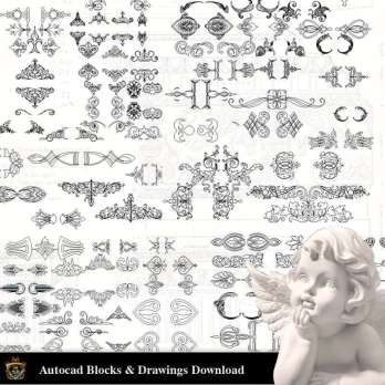 Free Classical Decoration Elements – Free Autocad Blocks