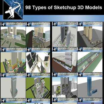 ☆Sketchup 3D models🔥💎 – Free Autocad Blocks & Drawings Download