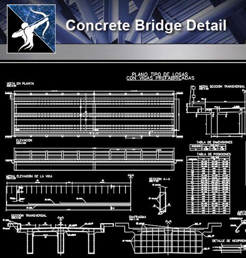 Concrete Bridge CAD Details