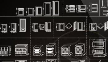 ☆【Exhibitions CAD Blocks-Exhibition hall, display cabinet