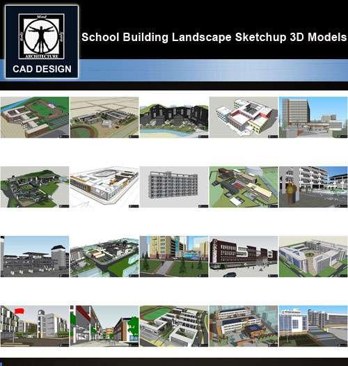 ★【Sketchup 3D Models】20 Types of School Sketchup 3D Models V 4