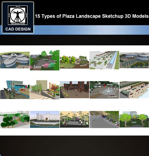 Incredible Sketchup 3D Models15 Types Of Plaza Landscape Sketchup 3D Models V 1 Inzonedesignstudio Interior Chair Design Inzonedesignstudiocom